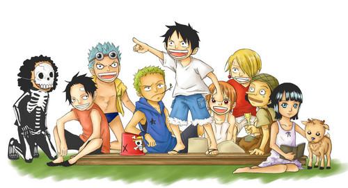 One Piece karatasi la kupamba ukuta titled *Mugiwara Kids*