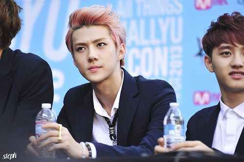 Se Hun kertas dinding with a bottled water called ♣ Sehun ♣