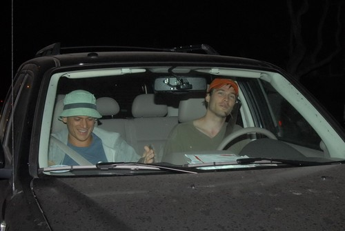 Wentworth Miller Hintergrund containing an automobile titled 08/25/07: Luke and Wentworth Miller in Los Angeles