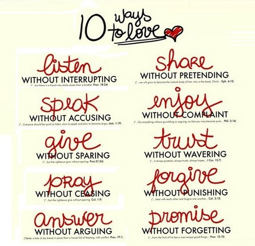 Quotes wallpaper entitled 10 Ways To Love
