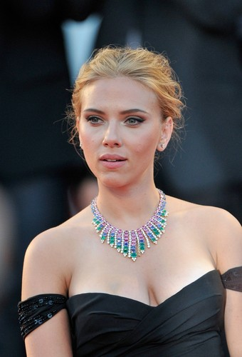 Scarlett Johansson wallpaper probably with a leotard, a bustier, and tights titled 70th Venice Film Festival