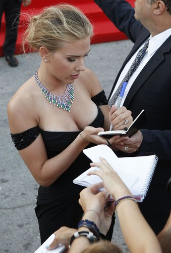 scarlett johansson fondo de pantalla possibly containing a business suit entitled 70th Venice Film Festival
