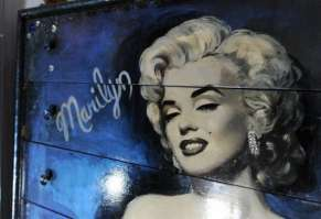 A Custom-Made Painted Dresser With Marylin's Picture