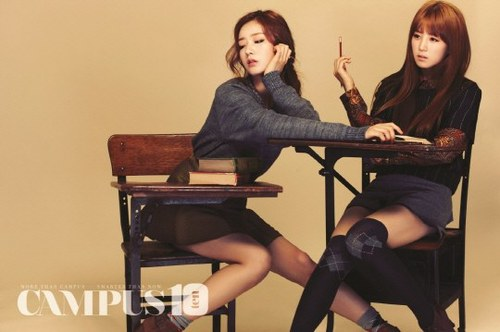 Korea Girls Group A Pink wallpaper probably with a hip boot entitled A Pink for 'Campus10'