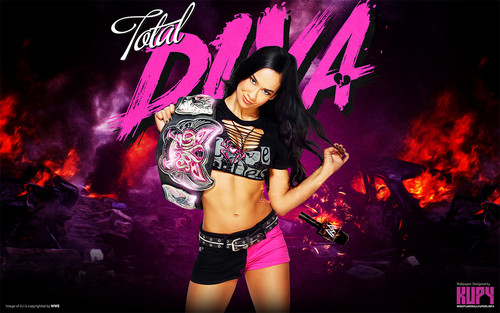 WWE kertas dinding containing a konsert called AJ Lee - Divas Champion