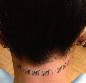 AJ Lee's new tattoo
