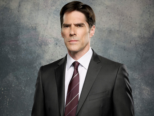 Criminal Minds achtergrond containing a business suit, a suit, and a double breasted suit called Aaron Hotchner