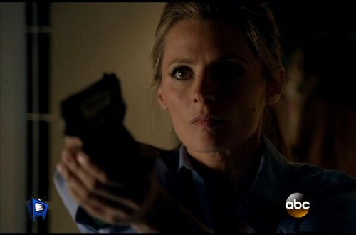 Kate Beckett karatasi la kupamba ukuta probably with a portrait entitled Agent Kate Beckett