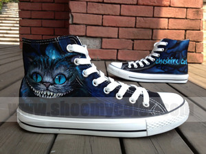 Alice in woderland hand painted shoes