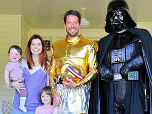 Alyson Hannigan and Alexis Denisof with kids