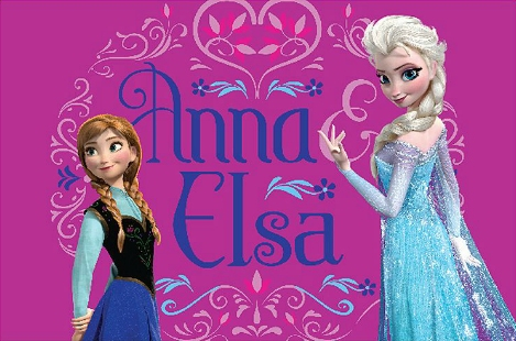 Frozen wallpaper with a dinner dress and a cocktail dress titled Anna and Elsa