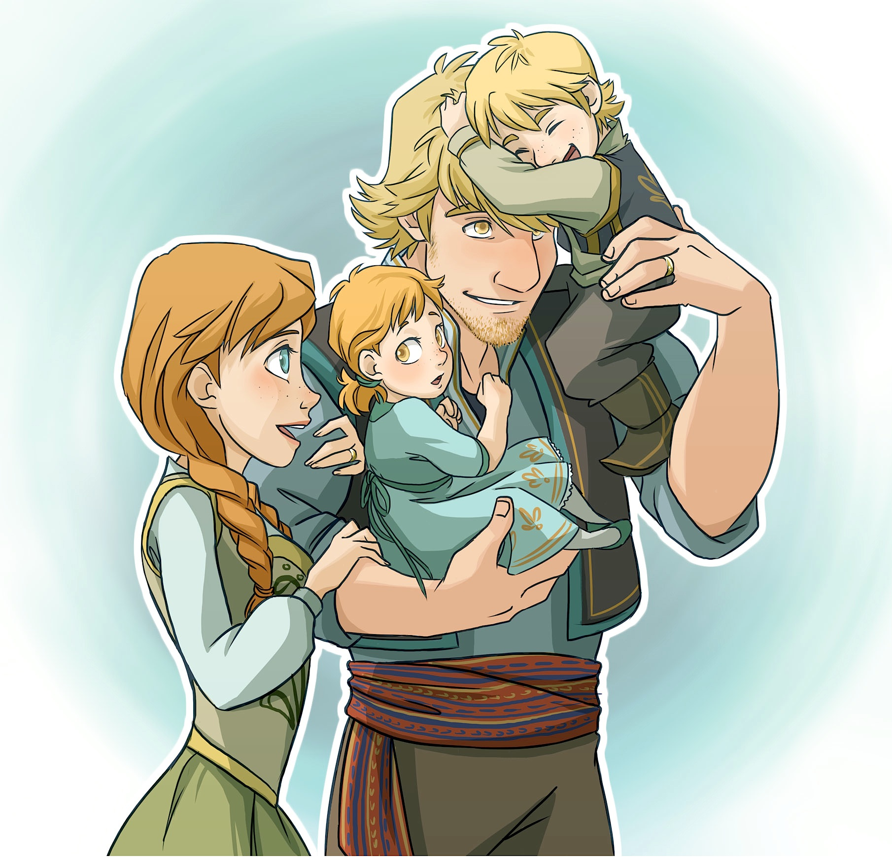 Frozen Anna and Kristoff's Family