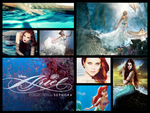 Ariel Merchandise and picha collage