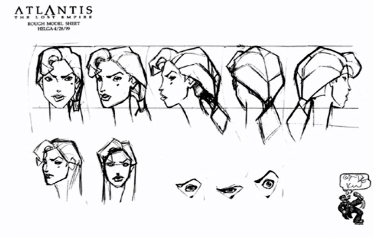 Disney Atlantis Character Design : Atlantis the lost empire model sheets photo