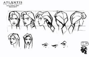 Atlantis The Lost Empire Model Sheets