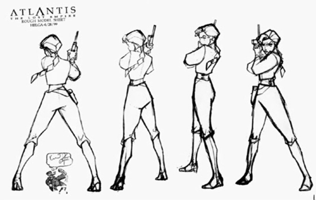 Disney Atlantis Character Design : Atlantis the lost empire model sheets