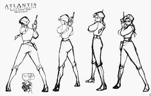 Atlantis: The Lost Empire fond d'écran titled Atlantis The Lost Empire Model Sheets