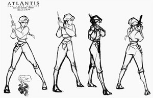 Atlantis The ロスト Empire Model Sheets