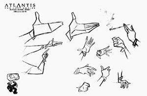 Atlantis The 迷失 Empire Model Sheets