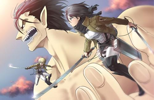 Attack on Titan karatasi la kupamba ukuta titled Attack On Titan <3