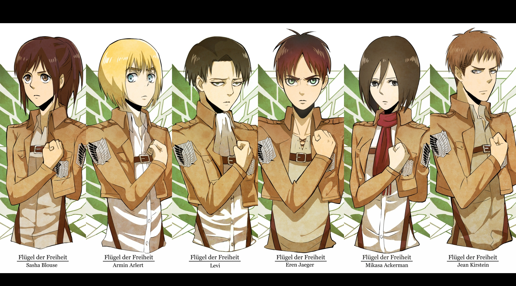Attack-On-Titan... Attack On Titan Levi Salute