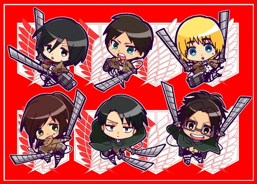 Attack on Titan karatasi la kupamba ukuta containing anime titled Attack On Titan <3