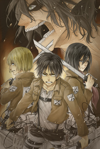 Attack on Titan karatasi la kupamba ukuta possibly with a green beret, regimentals, and anime entitled Attack On Titan <3