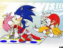Sonic the Hedgehog wallpaper with Anime entitled Awkard Twister Moment