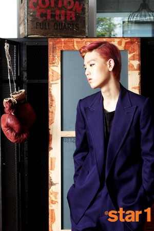 B.A.P's Zelo in Vol. 18 (September 2013) of Star1 Magazine