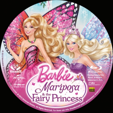 Barbie Mariposa and the Fairy Princess Bluray Disc