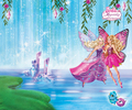 Barbie Mariposa and the Fairy Princess kertas dinding