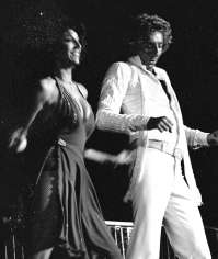 Barry And Backing Vocalist, Reparata On Tour In The Late-70's