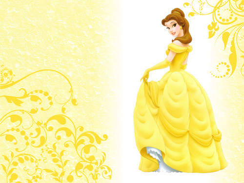 Disney Princess wallpaper probably with a gown and a dinner dress entitled Belle