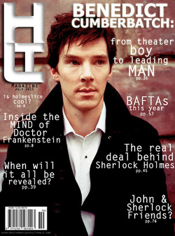 Benedict Cumberbatch wallpaper possibly containing a business suit entitled Benedict's Magazine Covers