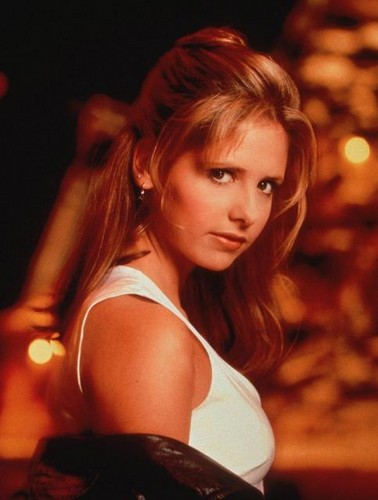 Buffy Summers karatasi la kupamba ukuta containing a portrait titled Buffy Summers Season 1 Promos