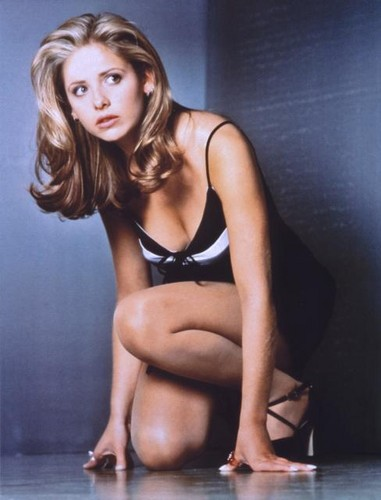 Buffy Summers karatasi la kupamba ukuta possibly containing attractiveness, a lingerie, and an undergarment titled Buffy Summers Season 1 Promos