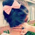 Bun With Cute Bow <3