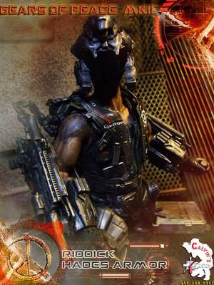 Calvin's Custom One Sixth Gears of Peace MKII Riddick