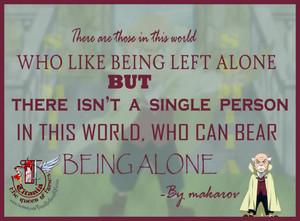 Can't menanggung, bear Being Alone
