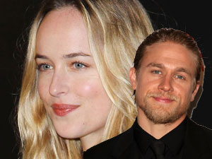 Charlie Hunnam and Dakota Johnson,aka Christian and Anastasia