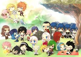 Fairy Tail Guild wallpaper probably with anime entitled Chibi