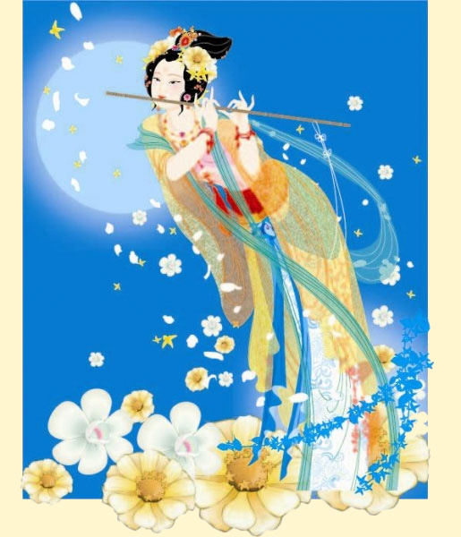Chinese Moon Goddess - Moon Fan Art (35483299) - Fanpop