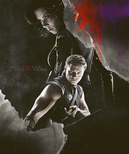 Hawkeye & Black Widow karatasi la kupamba ukuta titled Clint & Natasha