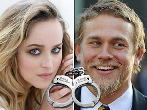 Dakota Johnson and Charlie Hunnam,aka Ana Steele and Christian Grey