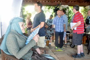 Dame Diana Rigg - Game of Thrones bts photo