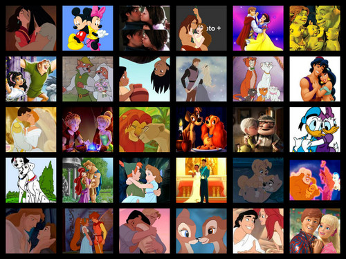 Disney Couples wallpaper containing a cassette tape, a stained glass window, and anime called Disney Couples
