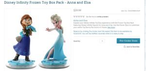 디즈니 Infinity 겨울왕국 Toy Box Pack - Anna and Elsa