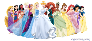 ডিজনি Princesses with Anna and Elsa (Request from CitySongbird)