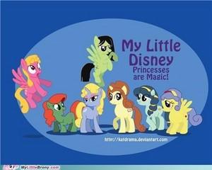 迪士尼 princess ponys :)
