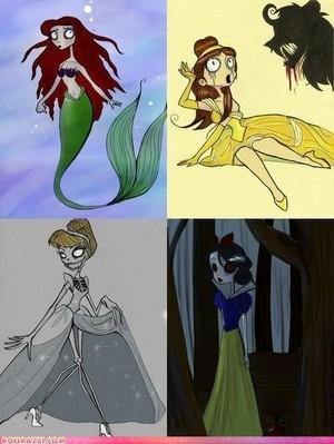 ディズニー princess's Tim バートン style